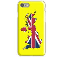 Smartphone Case - Cool Britannia - Yellow Background iPhone Case/Skin