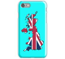 Smartphone Case - Cool Britannia - Light Blue Background iPhone Case/Skin