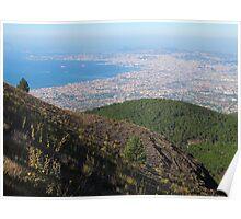 Naples Bay View from Mount Vesuvius Poster