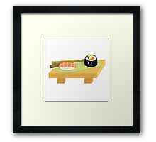 Cute Sushi ! Framed Print