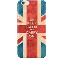 Keep Calm and Carry On Vintage Union Jack Flag iPhone Case/Skin