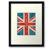 Keep Calm and Carry On Vintage Union Jack Flag Framed Print
