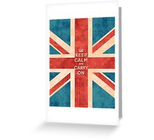 Keep Calm and Carry On Vintage Union Jack Flag Greeting Card