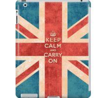 Keep Calm and Carry On Vintage Union Jack Flag iPad Case/Skin