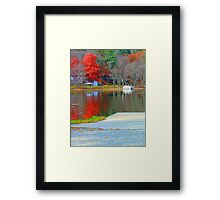 Fall Colors on the Water Framed Print