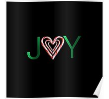 JOY Candy Cane Heart Poster