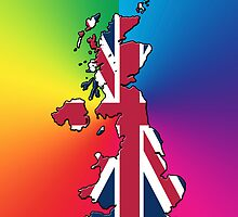 Iphone Case - Cool Britannia - Spectrum Background by Mark Podger