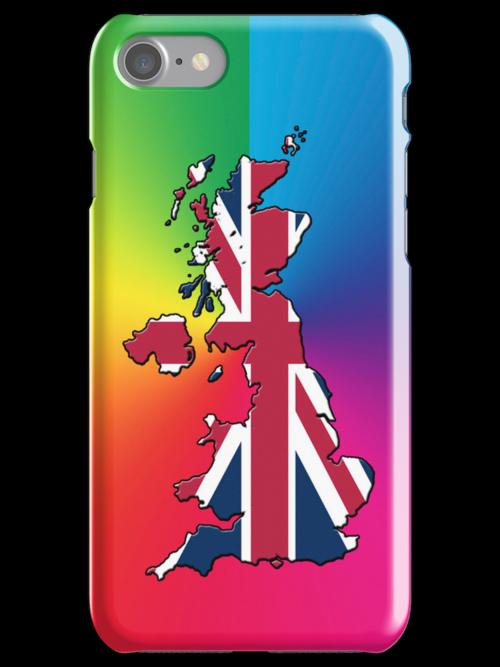 Smartphone Case - Cool Britannia - Spectrum Background by Mark Podger