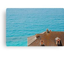 Roof Overlooking Sea Canvas Print