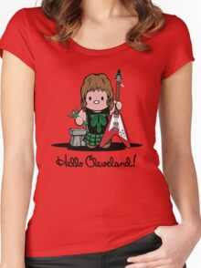 Hello Cleveland! Women's Fitted Scoop T-Shirt