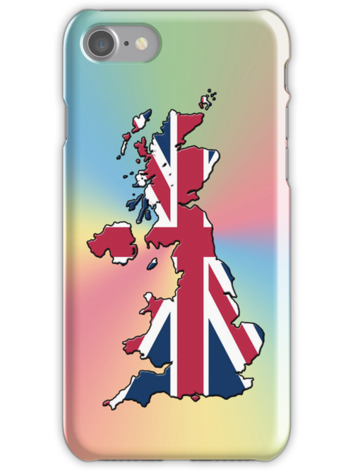 Smartphone Case - Cool Britannia - Yellow Blue Pink Background by Mark Podger
