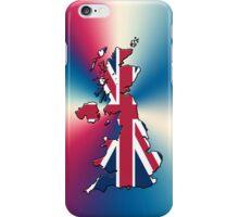Smartphone Case - Cool Britannia - Red White Blue Background iPhone Case/Skin