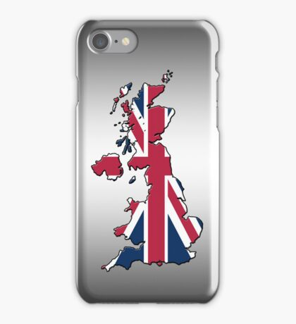 Smartphone Case - Cool Britannia - Steel Background iPhone Case/Skin