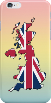 Smartphone Case - Cool Britannia - Blue Yellow Pink Background by Mark Podger