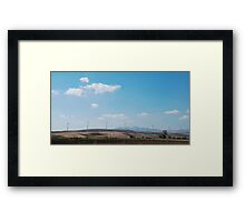 Row of Wind Turbines in South Italy Framed Print