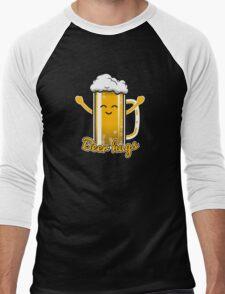 Beer Hugs Men's Baseball ¾ T-Shirt