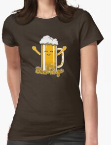 Beer Hugs Womens Fitted T-Shirt