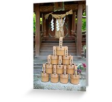Water Buckets at Eikando Temple Greeting Card