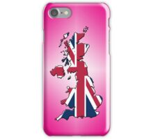 Smartphone Case - Cool Britannia - Magenta Diamond Background iPhone Case/Skin