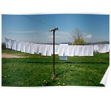 Washing on Line Poster