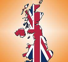Smartphone Case - Cool Britannia - Orange Diamond Background by Mark Podger