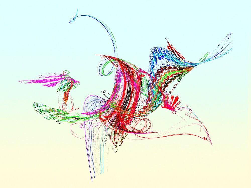 Fractal - Flying Bird by Susan Savad