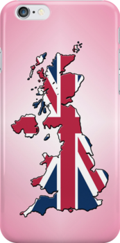 Smartphone Case - Cool Britannia - Pink Diamond Background by Mark Podger