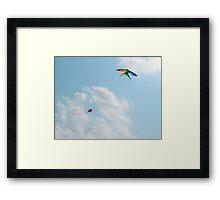 Two Kites in Sky Framed Print