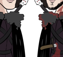 Jon Snow Before and After Sticker