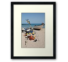 Fishing Boat and Equipment Framed Print