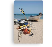 Fishing Boat and Equipment Canvas Print