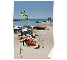 Fishing Boat and Equipment Poster