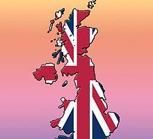 Smartphone Case - Cool Britannia - Medium Spectrum Background by Mark Podger