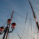 Lamp Post and Ship Masts by jojobob