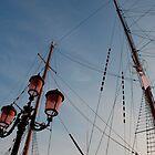 Lamp Post and Ship Masts by jojobob