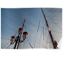 Lamp Post and Ship Masts Poster