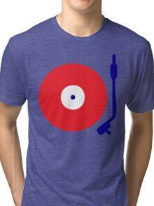 Red White Blue Turntable Tri-blend T-Shirt
