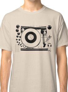 Vinyl Record Turntable Stencil Classic T-Shirt