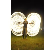 fire poi, fire ropes, fire festivals, festivals, volksfest. cool3water@ gums, andrew waters.  heat , dance, poi, rope poi,  Photographic Print