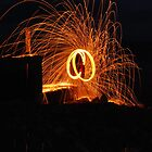 wire wool poi aberafan beach front,  cool3water@ gums, andrew waters.  by cool3water