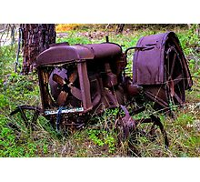 Seen Better Days - Rusty Tractor Photographic Print
