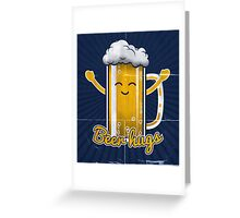 Beer Hugs Greeting Card