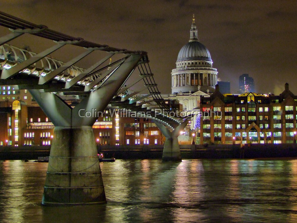 The Millenium Bridge and St Pauls by Colin  Williams Photography