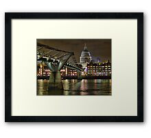 The Millenium Bridge and St Pauls Framed Print