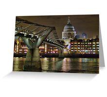 The Millenium Bridge and St Pauls Greeting Card