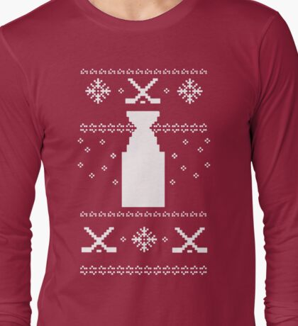 Hockey-Day Sweater Long Sleeve T-Shirt