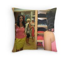 Lily In The Mirror Throw Pillow