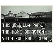 Aston Villa Football Club Photographic Print