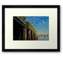 Lobster Traps at Bass Harbor, Tremont, Maine Framed Print