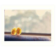 Toy Chickens - Window Art Print